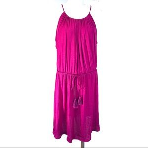 Vince Camuto Pink Thin Strap Chiffon Dress Large